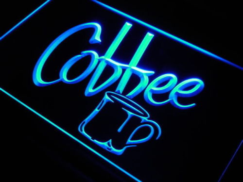 Coffee Cup Cafe LED Light Sign