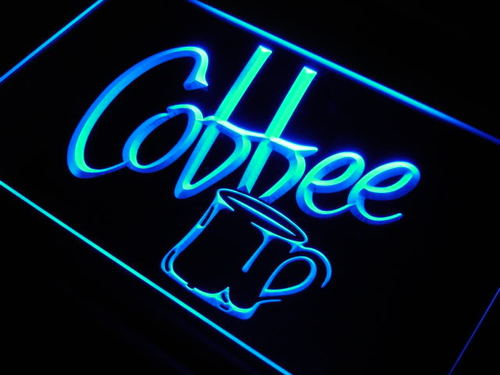 Coffee Cup Shop Cafe Display Neon Light Sign