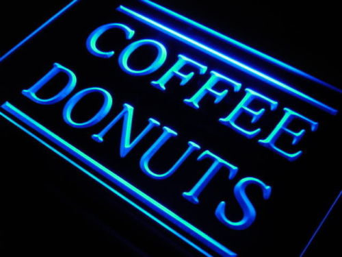 Coffee Donuts LED Light Sign