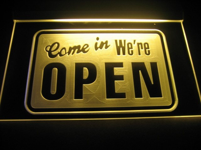 Come In Were Open LED Sign