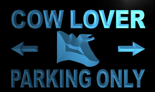 Cow Lover Parking Only Neon Light Sign