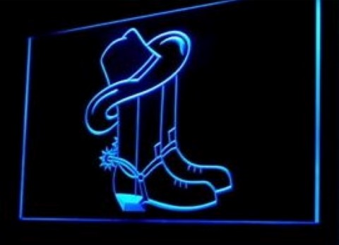 Cowboy Boots LED Neon Sign