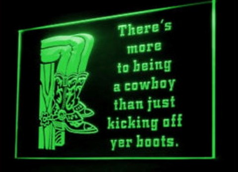 Cowboy Boots Place Western LED Neon Sign