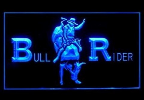 Cowboys Bull Rider Rodeo LED Neon Sign