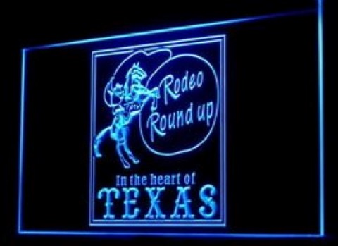 Cowboys Horse Rodeo Texas LED Neon Sign