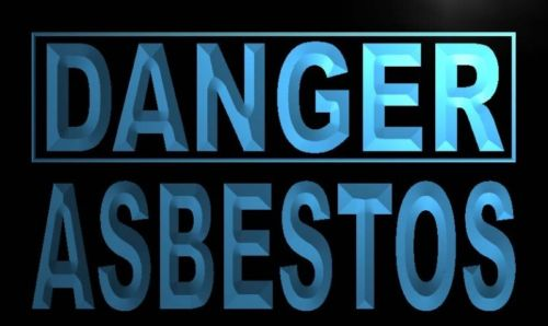 Danger Asbestos Neon Light Sign
