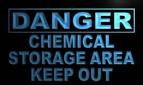 Danger Chemical Storage Area keep out Neon Sign