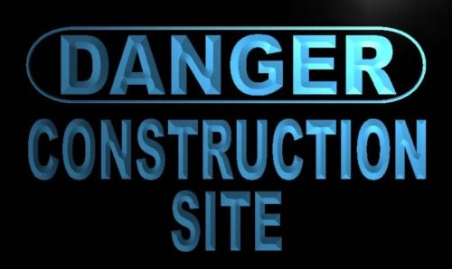 Danger Construction Site Neon Light Sign