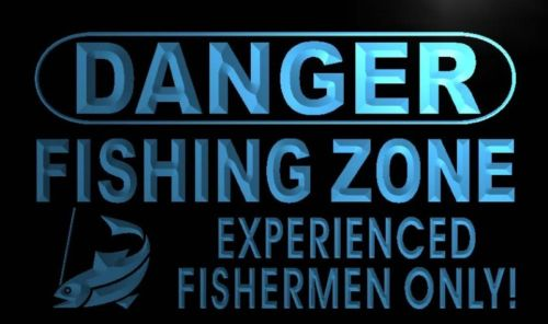 Danger Fishing Zone Neon Light Sign