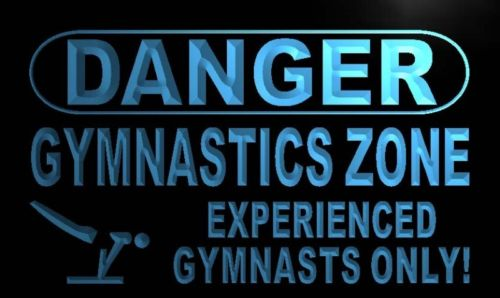 Danger Gymnastics Zone Neon Light Sign