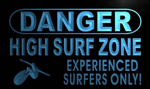 Danger High Surf Zone Neon Light Sign