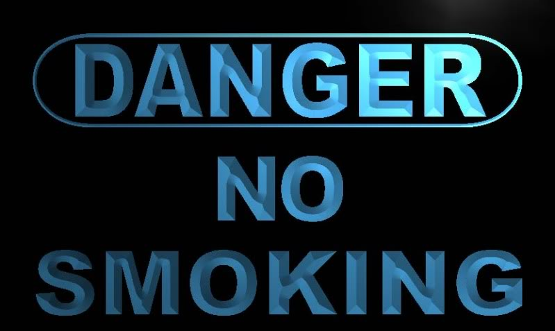 Danger No Smoking Neon Light Sign