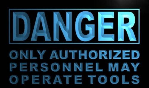 Danger Only Authorized Personnel Neon Sign