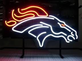 Denver Broncos Classic Neon Light Sign 17 x 14