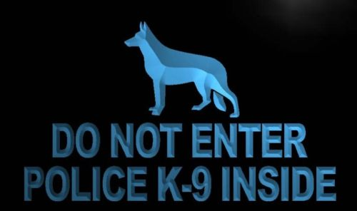 Do Not Enter Police K-9 inside Neon Light Sign