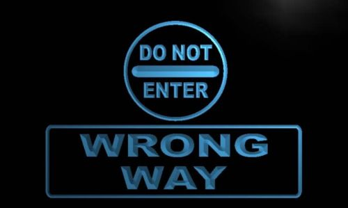 Do Not Enter Wrong Way Neon Light Sign
