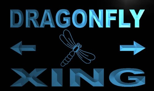 Dragonfly Xing Neon Light Sign