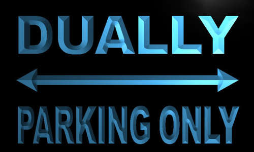 Dually Parking Only Neon Light Sign