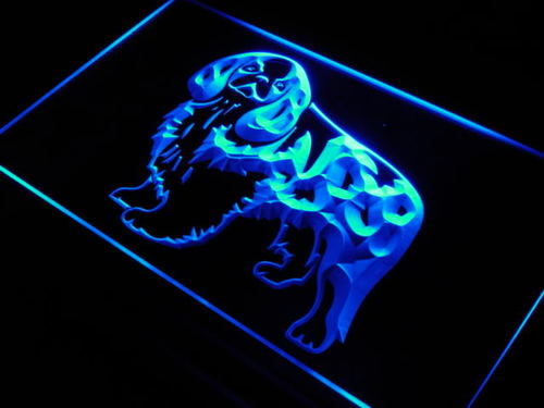 English Toy Spaniel Dog Shop Bar Neon Light Sign