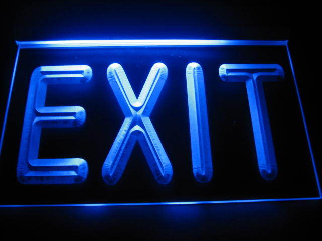 Exit Logo LED Light Sign