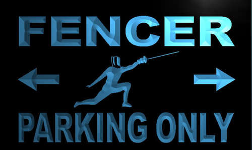 Fencer Parking Only Neon Light Sign