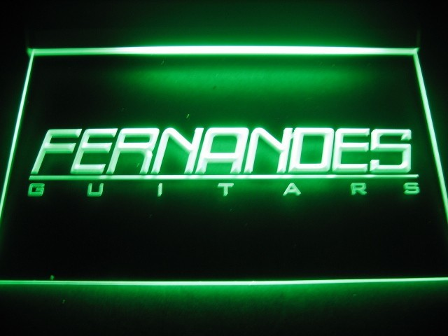 Fernandes Guitars Logo Neon Light Sign