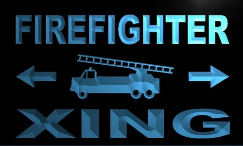 Firefighter Xing Neon Light Sign