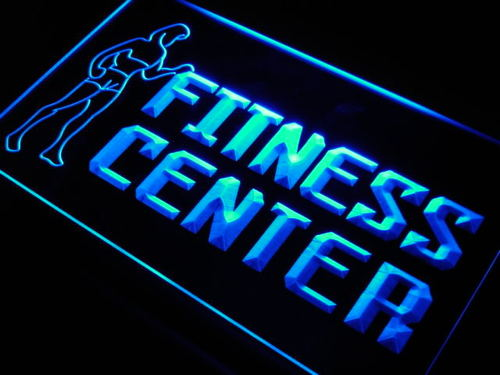 Fitness Center Gym Room Display Neon Light Sign