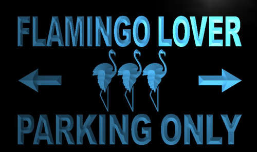 Flamingo Lover Parking Only Neon Light Sign