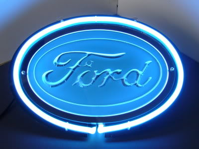 Ford Logo Blue Oval Neon Bar Mancave Sign