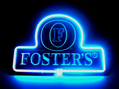 Fosters Beer Logo Blue Neon Bar Mancave Sign
