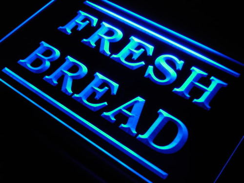Fresh Bread Bakery Shop Display Neon Light Sign