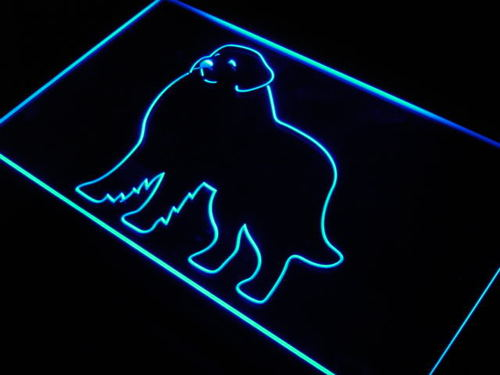 Great Pyrenees Dog Pet Shop Bar Neon Light Sign
