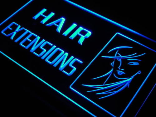Hair Extensions LED Light Sign