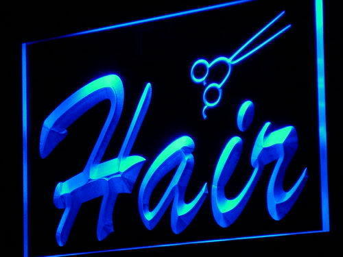 Hair LED Light Sign