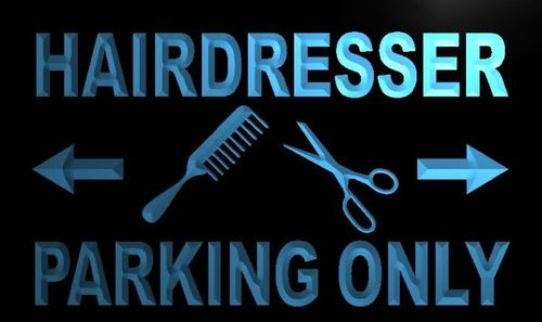 Hairdresser Parking Only Neon Light Sign