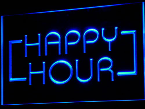Happy Hour Coffee Shop LED Sign