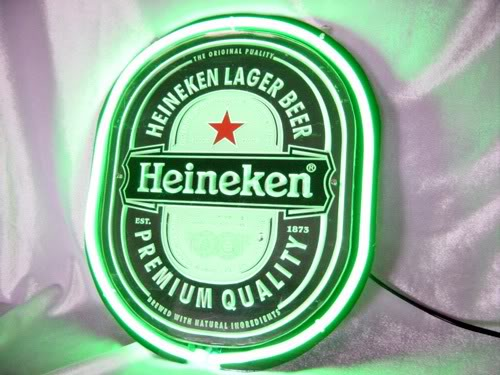 Heineken Beer Lager Neon Bar Mancave Sign