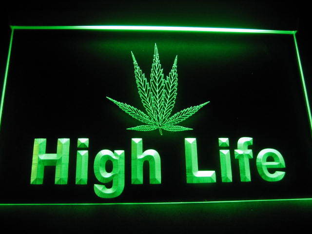 High Life Logo Beer Bar Pub Store Light Sign Green