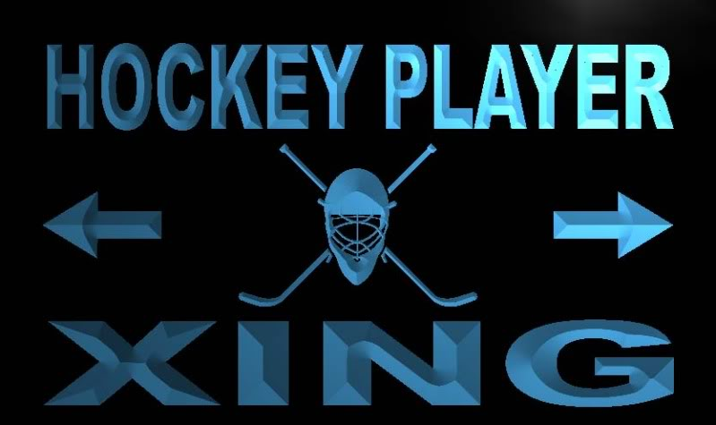 Hockey Player Xing Neon Light Sign
