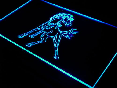 Horse Stallion Display Bar Beer Neon Light Sign
