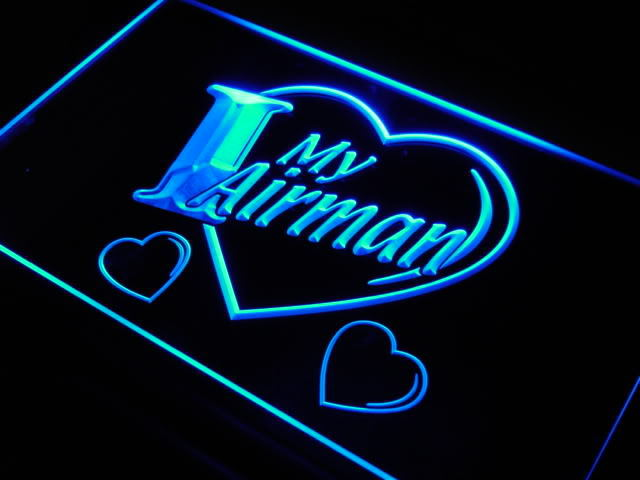 I Love My Airman Force Military Neon Light Sign