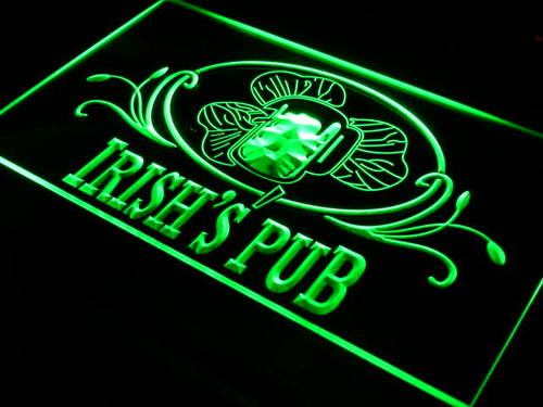 Irish's Pub Bar Club Neon Light Sign