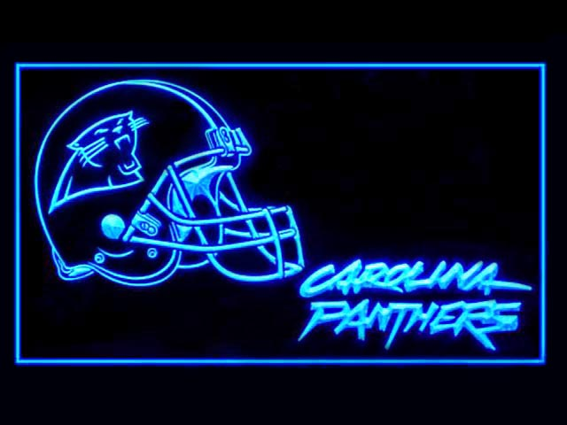 Carolina Panthers Helmet Cool Shop Neon Light Sign