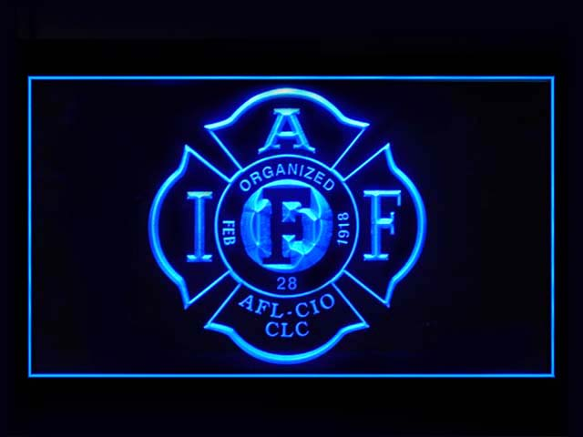 Fire Rescue IAFF FireFighters Bar Beer Neon Light Sign