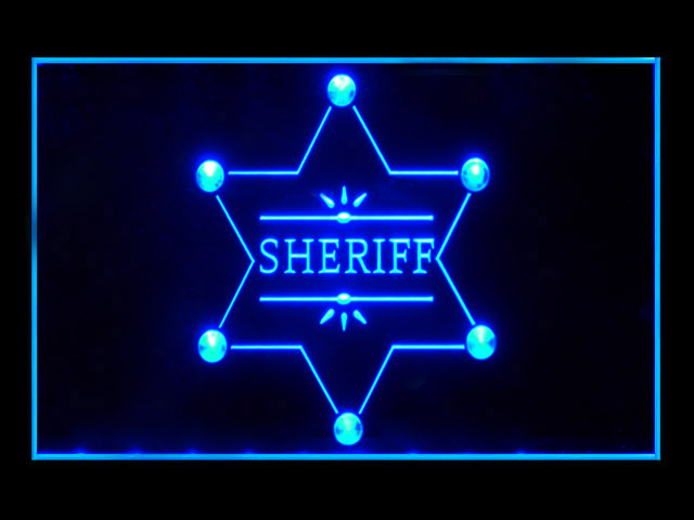 Sheriff Badge Police Bar Beer Neon Light Sign