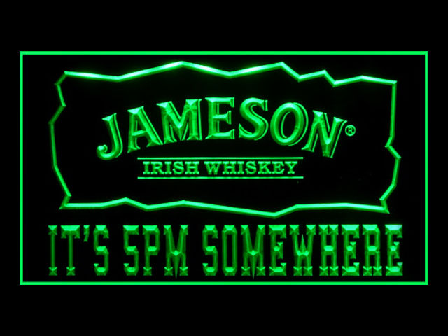 Jameson Whiskey Its 5pm Pub Store Light Sign
