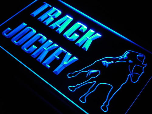 Jockey Track Horse Ride Gift Neon Light Sign