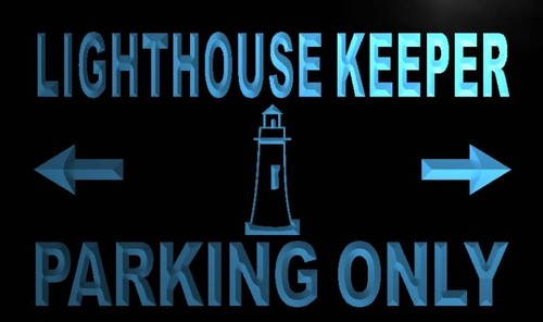 Lighthouse Keeper Parking Only Neon Light Sign