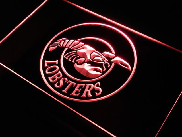 Lobsters Seafood Restaurant Bar Neon Light Sign